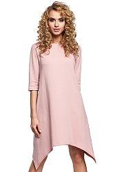 Svetloružové šaty MOE 291
