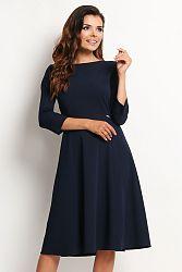 Tmavomodré šaty A112
