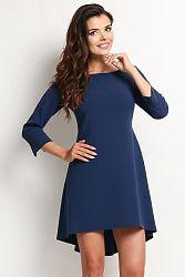 Tmavomodré šaty A115