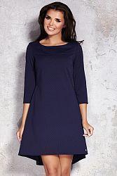 Tmavomodré šaty M024