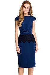 Tmavomodré šaty S108