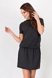 Tmavosivé šaty A93
