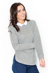 Tmavosivý sveter K226