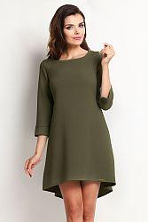 Tmavozelené šaty A115