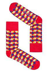 Unisex červené ponožky Spox Sox Bermuda triangles