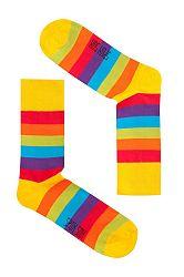 Unisex viacfarebné ponožky Spox Sox Rainbow
