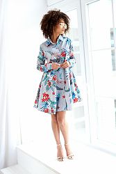 Viacfarebné kvetované šaty MQ019