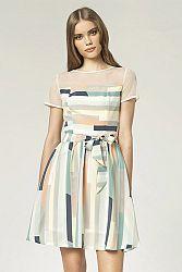 Viacfarebné šaty S44