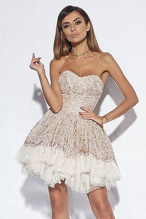 Béžové šaty Grace