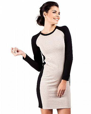 Béžové šaty MOE 037