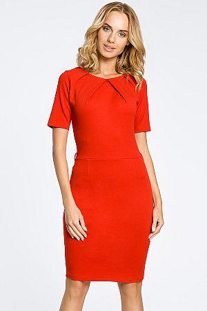 Červené šaty MOE 013