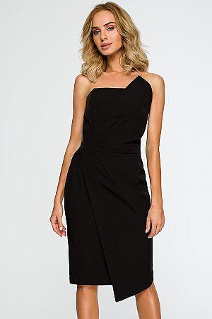 Čierne šaty M409