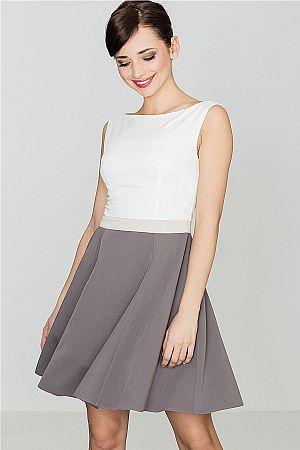 Šaty K083 sivá