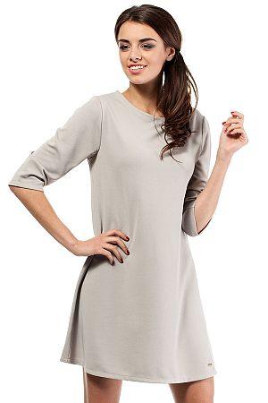 Sivé šaty MOE 029