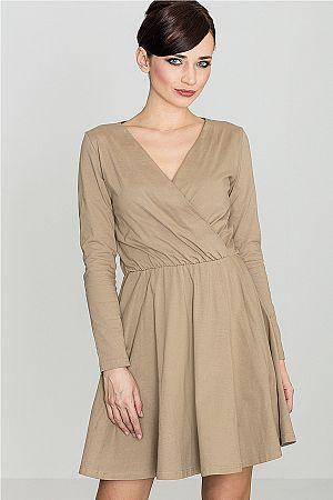 Svetlohnedé šaty K116
