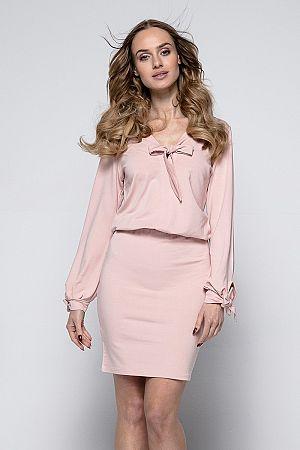 Svetloružové šaty I244