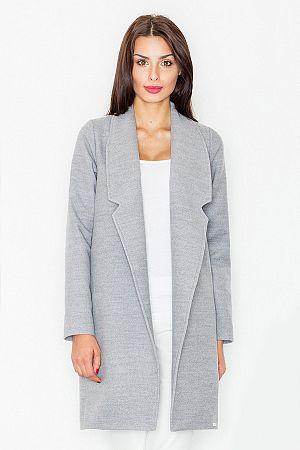 Svetlosivý kabát M531